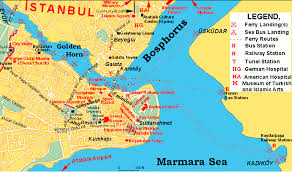 istanbul turkey map clickable map of istanbul all about turkey
