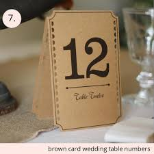 wedding table number ideas top 7 wedding table number ideas