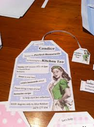 1950 u0027s housewife kitchen tea invite don u0027t really like the design