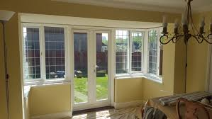 shutters for dining room square bay window and patio doors in