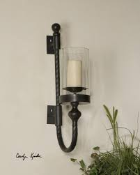 Candle Wall Sconces Wrought Iron Tuscan Decor Tuscan Alhambra Iron Wall Sconce Candle Holder Iron
