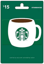 starbuck gift card deal 15 starbucks gift card only 750 huggies rewards points