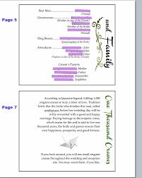 One Page Wedding Program Diy Booklet Crafty Wedding