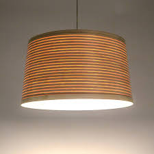 Large Drum Light Fixture by This Uncomplicated Wooden Drum Lampshade Is Made From Coiled Steam