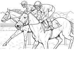 Coloriage cheval course  1001 Animaux