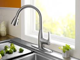 Cleanflo New Touch Single Handle by Sink U0026 Faucet Contemporary Goose Neck Brushed Nickel Kitchen