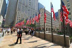 Rockefeller Center Summer Garden - rockefeller center rock plaza nyc editorial stock photo image