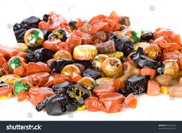 closeup halloween candy mostly wrapped orange stock photo 39167593