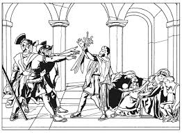 oath of the horatii by david master pieces coloring pages for
