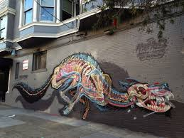 49 of san francisco s most awesome murals mapped artist nychos painted this terrifying yet stunning mural in the heart of haight ashbury the mural as its name suggests depicts the innards of a wolf