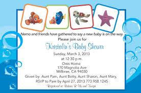 finding nemo baby shower finding nemo baby shower invitation
