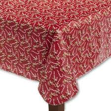 christmas tablecloth trim a home vinyl christmas tablecloth candy canes
