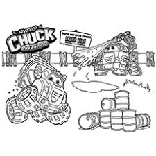 chuck the dump truck coloring pages coloring pages ideas