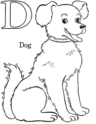 animal dog printable alphabet coloring pages alphabet coloring