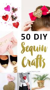 sequin crafts 50 glittery ideas you can make with sequins