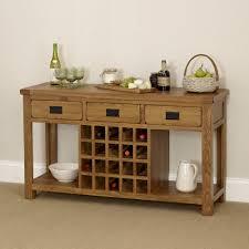 rustic oak buffet sideboard with wine rack oak sideboard with