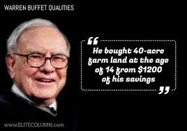 Warren Buffet Autobiography by Warren Buffett Farm Land Purchase Elitecolumn