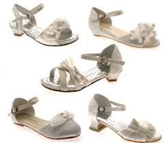 wedding shoes for girl kids satin flower wedding bridal bridesmaid ivory