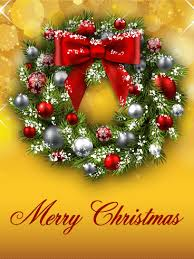 christmas wreath cards birthday u0026 greeting cards by davia free