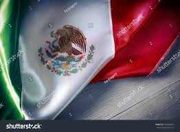 mexican flag dramatic lighting independence day stock photo