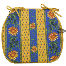 French Country Chair Cushions - sunflower blue coated french style chair pad by le cluny i dream