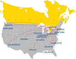 Map Toronto Canada by Boston To Toronto Ltl Shipping Canada Usa Cross Border Transport