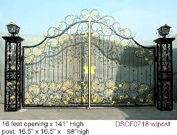 hench custom made luxury wrought forged iron gates hench ig4 in