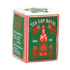 Teh Bubuk bottle brand tea green pack teh bubuk cap botol bungkus