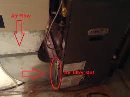 heating how to change furnace filter bottom return for lennox