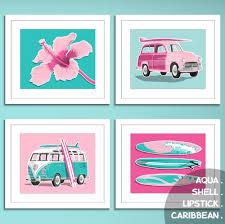 Hawaiian Themed Bedroom Ideas Girls Surf Art Surfer Decore Beach Art Prints Surf Art Prints