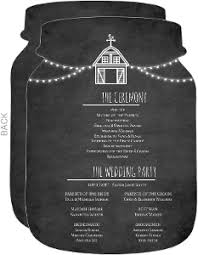 chalkboard wedding program wedding programs wedding ceremony programs