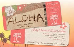 wedding invitations hawaii hawaii wedding boarding pass save the date invitations
