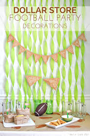 football party decorations dollar store football party decorations mad in crafts