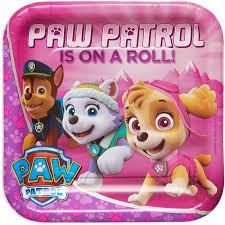 paw patrol pink 9