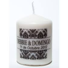personalized candle favors personalized wedding favors awesome candles by you