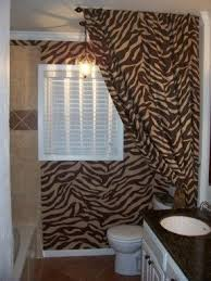 zebra print bathroom ideas animal print shower curtain foter