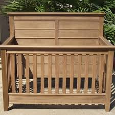 Oak Convertible Crib by Rustic Nursery Furniture Rustic Baby Furniture