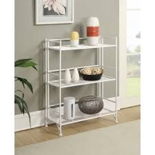 Iron Folding Bookcase Metal White Bookcases You U0027ll Love Wayfair
