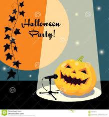 pumpkin invitation invitation for halloween party retro style stock vector image