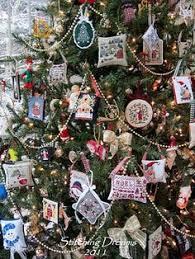 prairie schooler santas cross stitch handmade ornaments