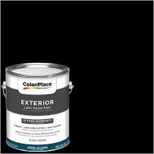 colorplace exterior paint black semi gloss finish 1 gallon
