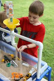 Sand Table Ideas How To Build A Pvc Pipe Sand And Water Table Frugal For Boys