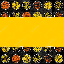 halloween background papers happy halloween trick or treat white black yellow orange round