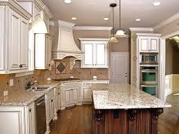 white backsplash dark cabinets kitchens with dark cabinets and light island round stone above the