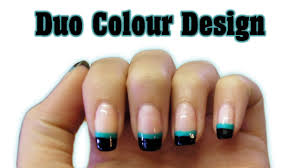 bio sculpture gel amazing duo colour design youtube