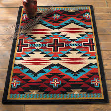 Western Style Area Rugs Southwest Rugs Rustic Cross Blue Southwestern Rug Collection Lone
