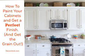 How To Remove Oil Stains From Wood Cabinets How To Paint Your Cabinets Like The Pros And Get The Grain Out