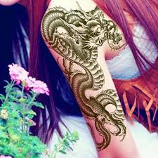 tattoo n 3d sexy design 3d black dragon removable waterproof temporary tattoo