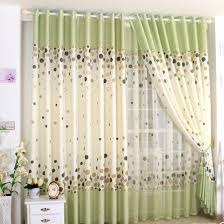 cute dots print grass green country style curtains buy green