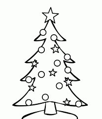 christmas how tow christmas tree coloring pages for children